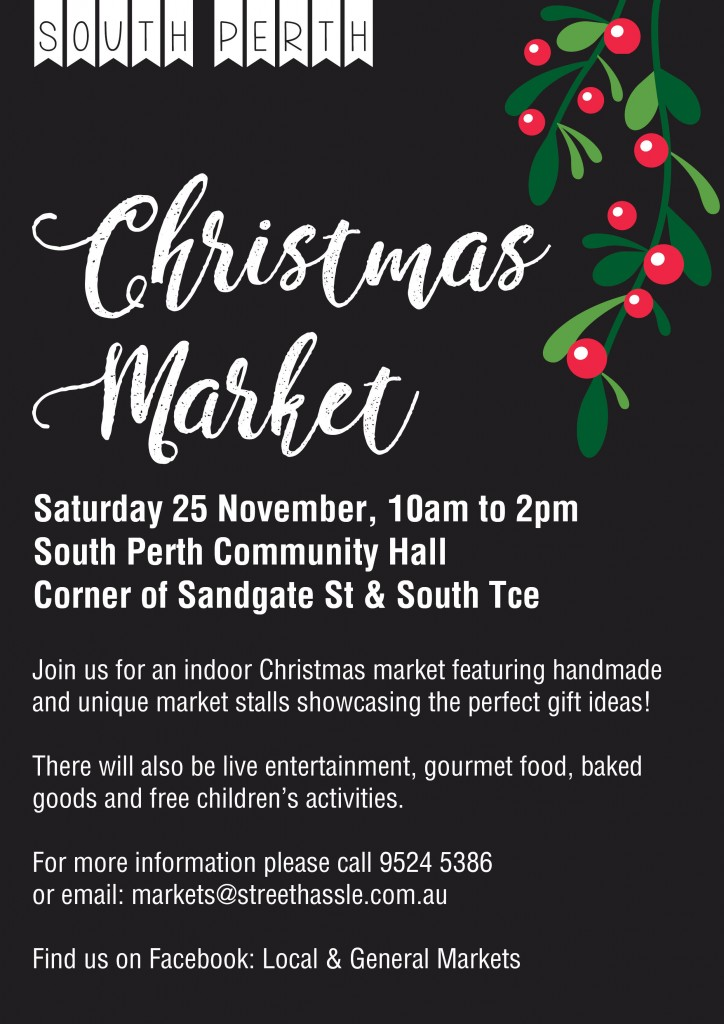 South Perth Christmas Market - A4